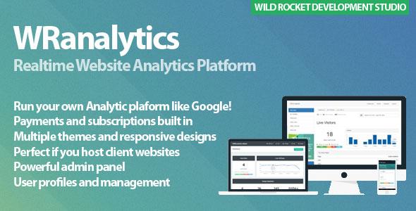 WRanalytics - Realtime, Multiuser Website Analytics Platform