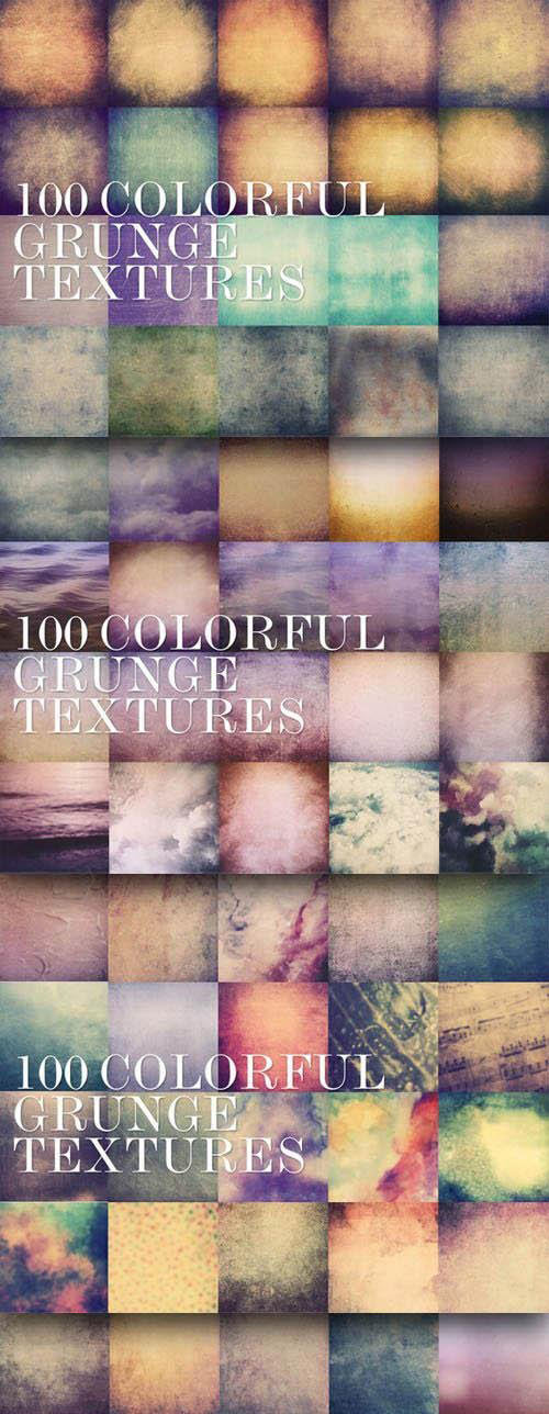 100 Colorful Grunge Textures 5000px