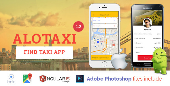 AloTaxi v1.2 - Mobile App Template