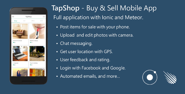 Buy & Sell Mobile App - Full Application with Meteor and Ionic