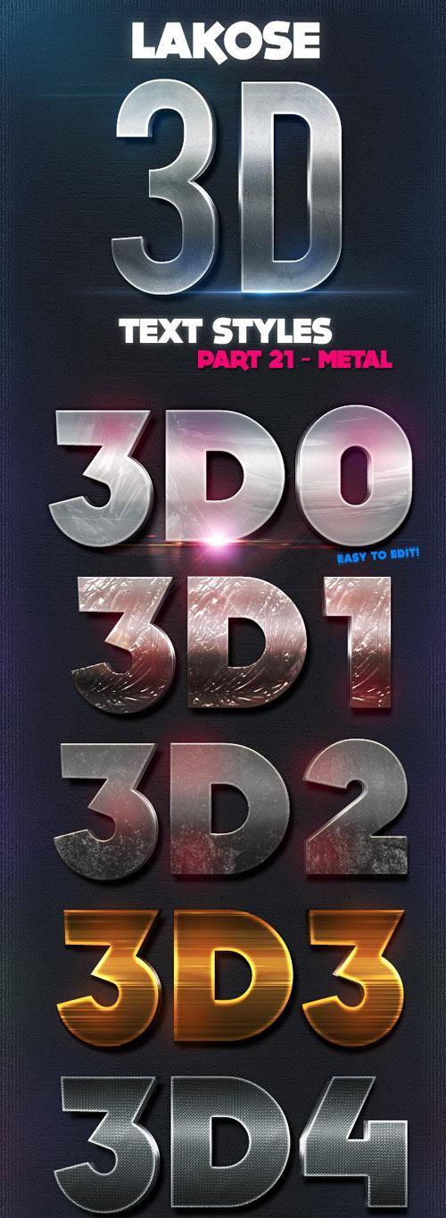 Lakose 3D Text Styles Part 21