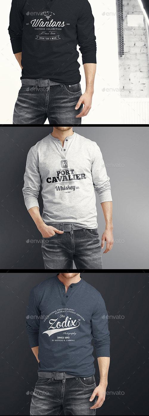 Man Longsleeve Shirt Mock-up