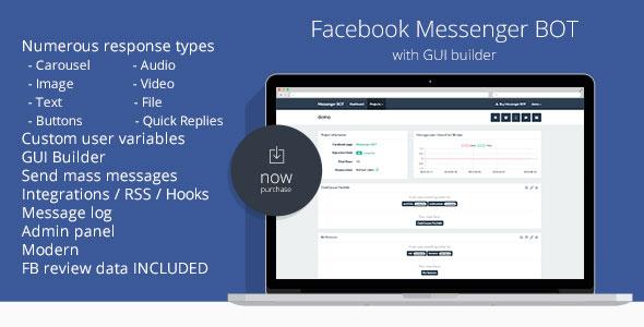 Facebook Messenger BOT GUI Builder