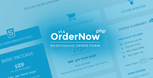 OrderNow v1.4 - Responsive PHP Order Form