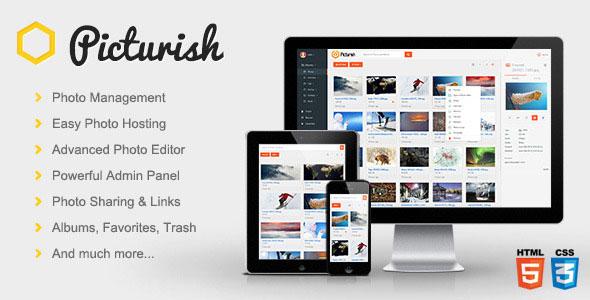 Picturish v1.3 - Image hosting, editing and sharing