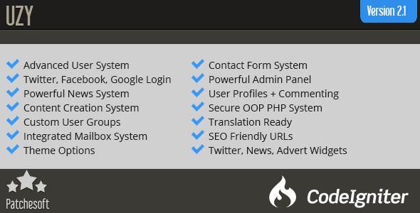 UZY v2.1 - Secure PHP Login User Management System