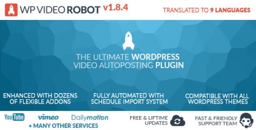 Nulled WordPress Video Robot Plugin v1.8.4 picture