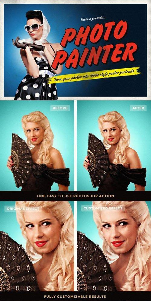 Photo Painter - Photoshop Action