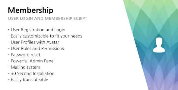 321 Membership - User Login, Membership and User Management