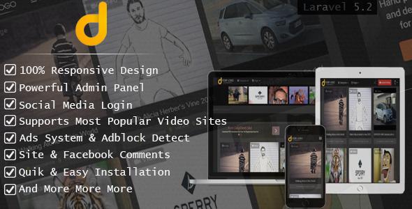 Darky v1.2.1 - Viral Media Sharing Script