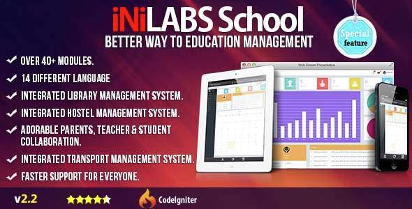 Inilabs v2.2 - School Management System Express
