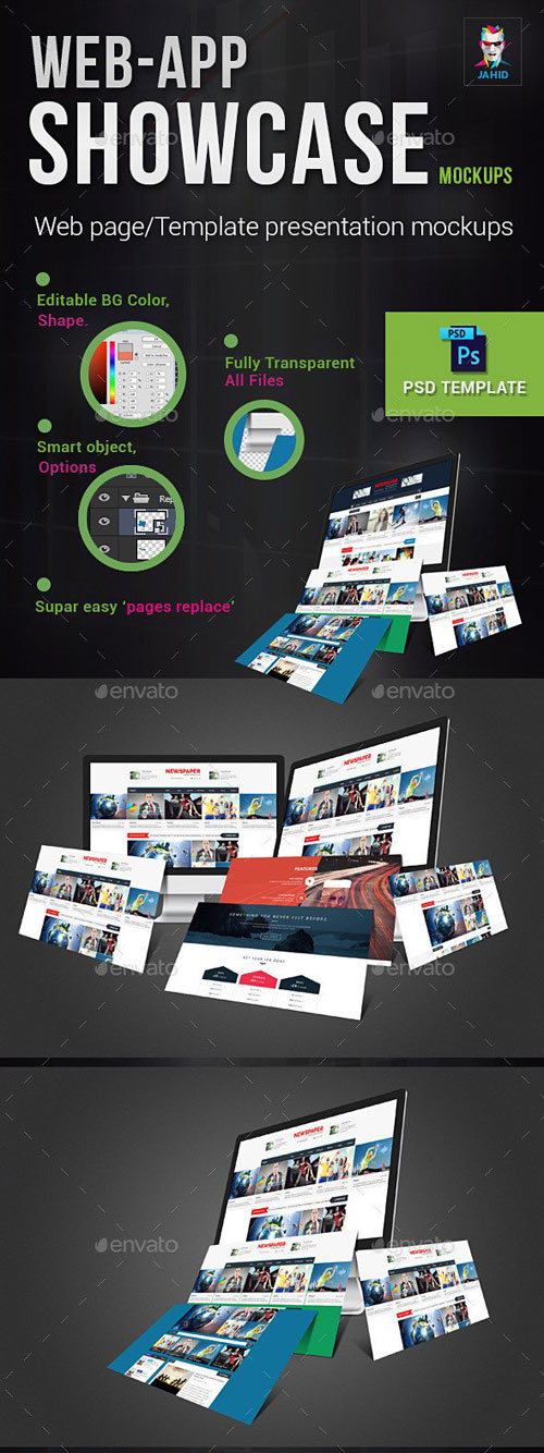 Web-App Showcase Mockups
