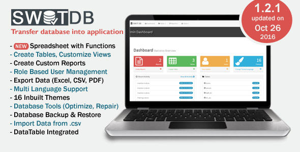 SWOT DB v1.2.1 - Database & Spreadsheet App